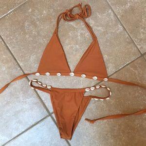 ZAFUL SWIM Orange Shell Bikini